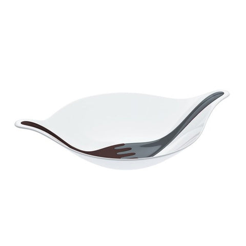 Salad bowl with servers 3l_LEAF L+solid white/black/stone_P1/4