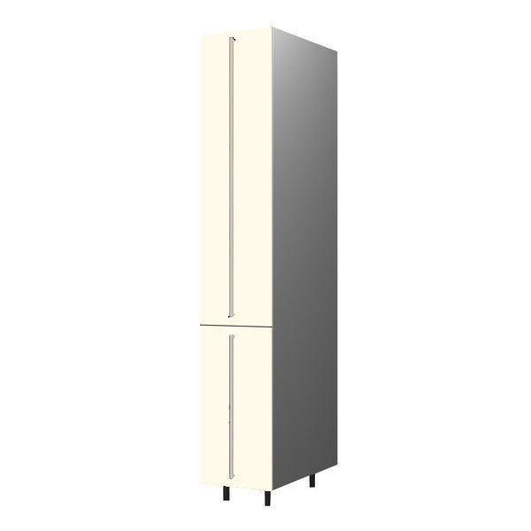 40 Cm. Cream High Gloss Tall Pullout Unit With Drawers