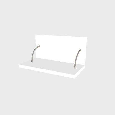 60 Cm. White High Gloss Spices Shelf With Cladding