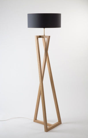 Cross Leg Floor Lamp Black Chapaux