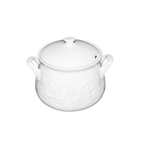 Classy Soup Pot with Cover White