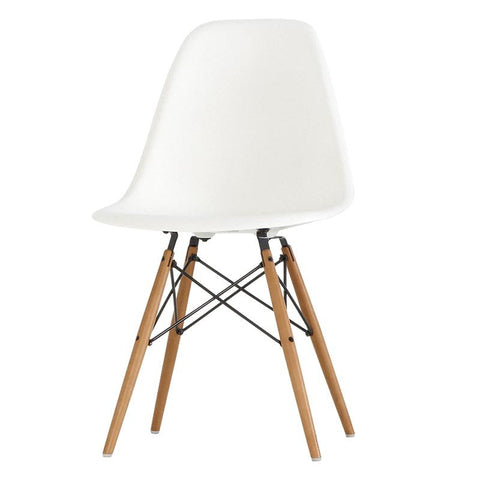 Chair - ABS  material and beech wood legs white