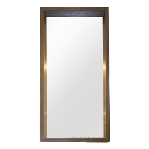 60 Cm. Green Avola Mirror with Frame Height 125 Cm. Height 12 Cm.