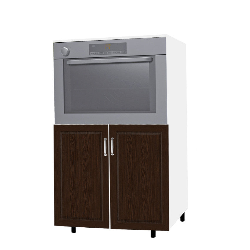 3D-wenge - 90 Cm. Medium Oven Unit
