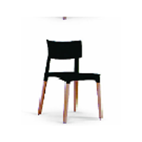 Chair - pp  material and beech wood legs 3