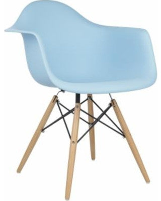 Chair - pp  material and beech wood legs 2
