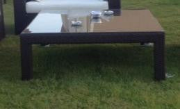 Out Door Ibiza Coffee Table 125*125*45 Dark Brown