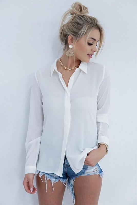 Sexy Lace Patchwork Backless Women's Shirt - Shirts-momochoice