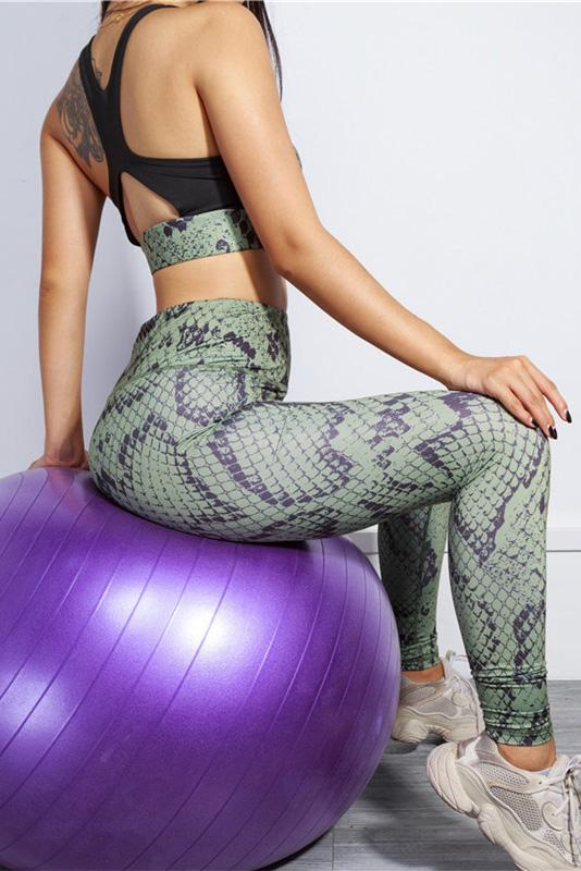 Snake SportsWear Gym Fitness Yoga Set