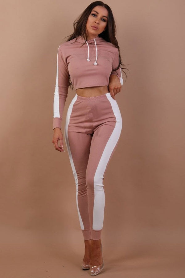 Casual Color Block Skinny-Leg Sports 2-Piece Outfit - 2-Piece Outfit-momochoice