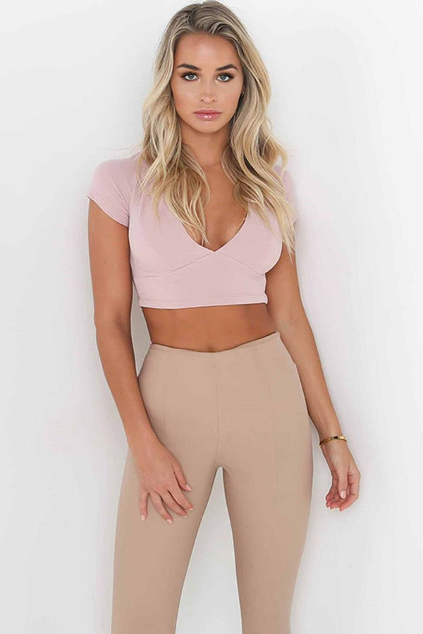 Chic Patchwork Lace-Up Crop Top - tees-momochoice