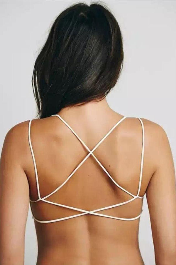 Sexy Backless Criss-Cross Crop Top - Tank Tops-momochoice