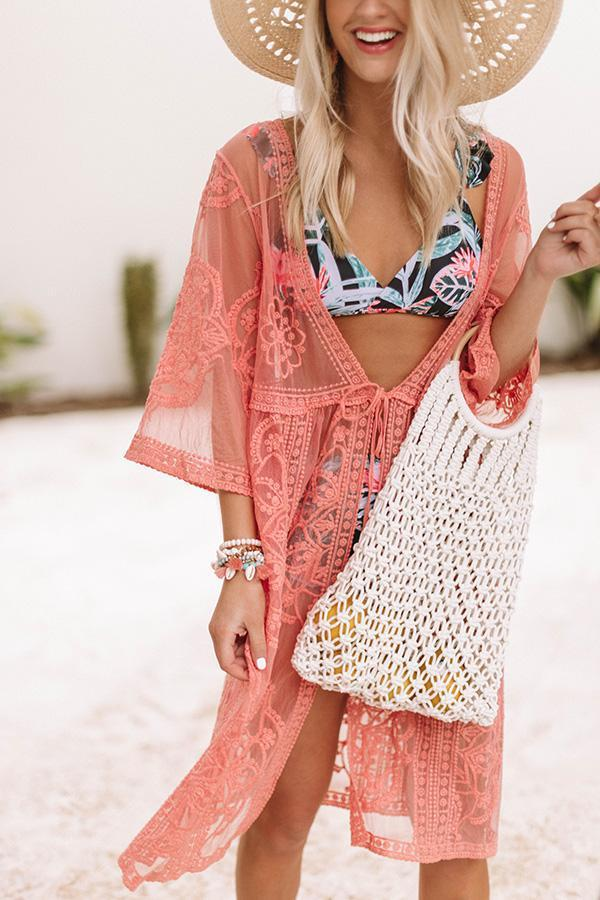 Stylish Lace See-Through Cover-Up