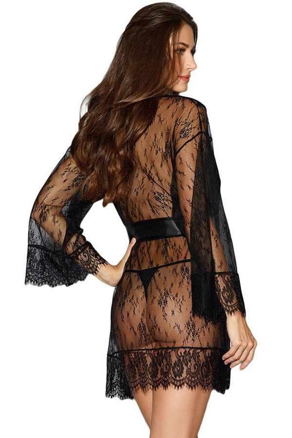 Women Lace Sheer See-Through Sleepwear