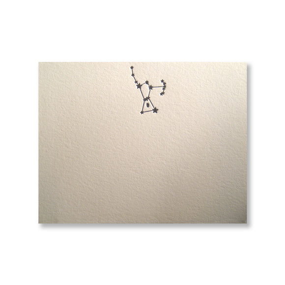 Letterpress constellation Orion stationery, in black in, by inviting INV1117.