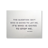 Who Will Stop Me - Rand Quotation Cards {Last One!}