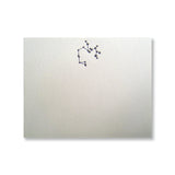 Letterpress constellation Sagittarius stationery, in black in, by inviting INV1119.