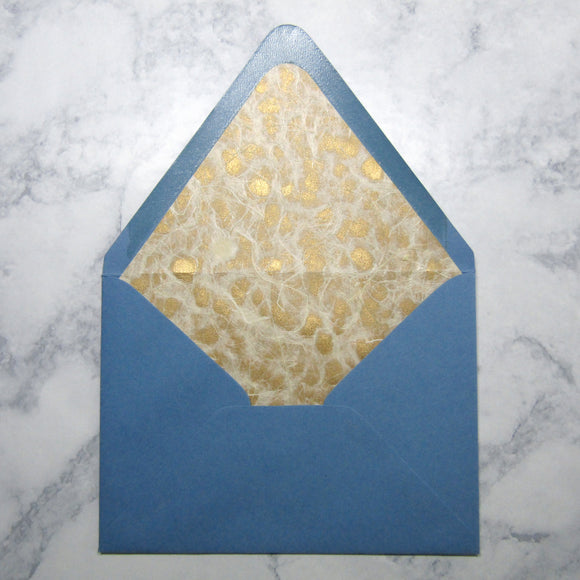 Blue Lined Envelopes {Pearlized}