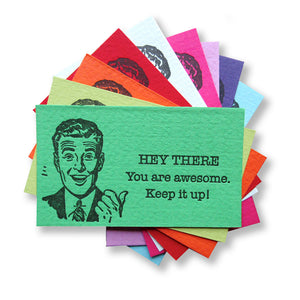 You're Awesome Cards {Retro Guy}