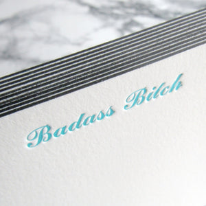 Badass Bitch Stationery {more styles available}