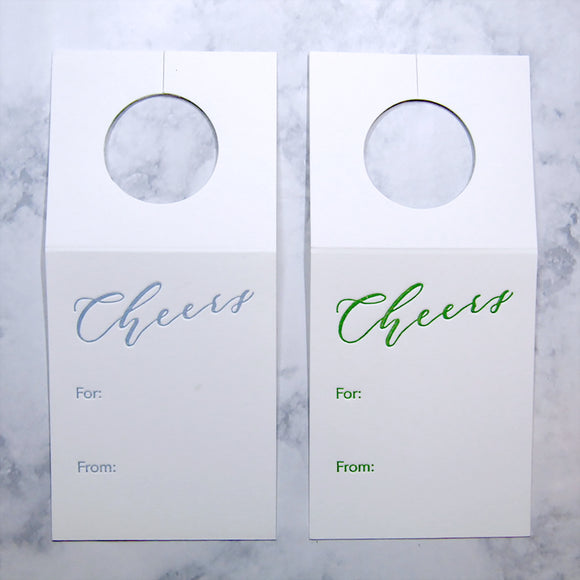 Cheers Wine Tags {More Colors Available}