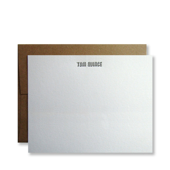Cotten Personalized Stationery (M) Tom Quince Display