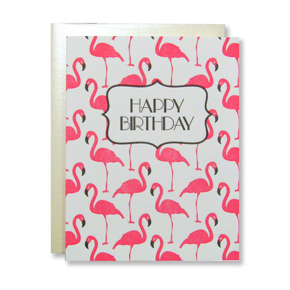 Flamingo Birthday Cards (12) {Last One}