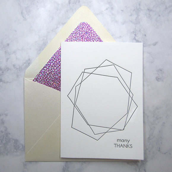 Geometric Thank You Cards {Custom Order}
