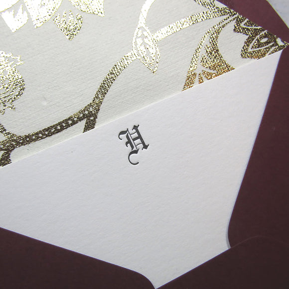 Gothic Initial Stationery (M)