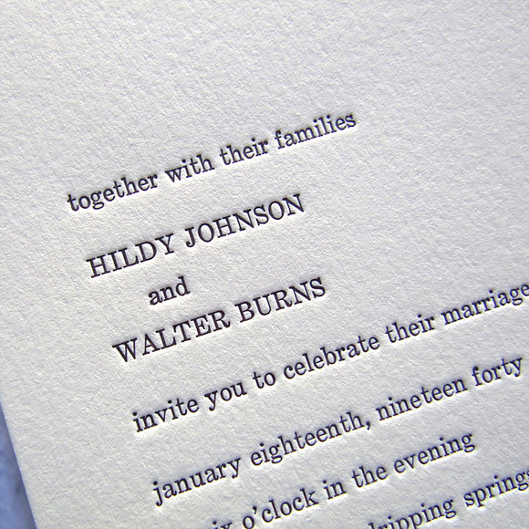 Hildy Vintage Wedding Invitations