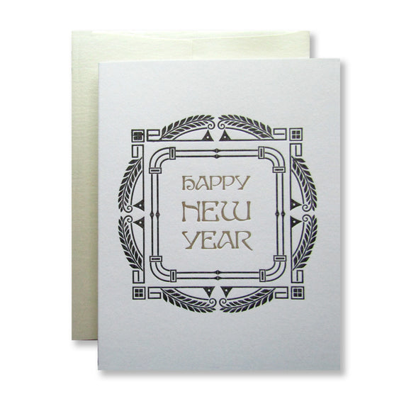 Happy New Year Cards {black & gold}