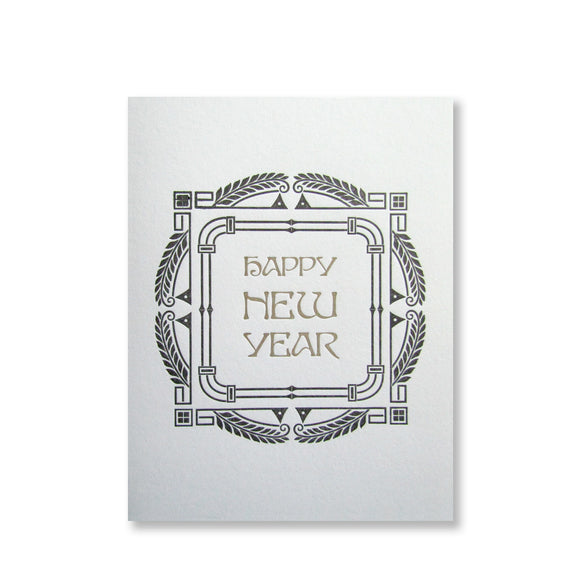 Happy New Year Card {black & gold}