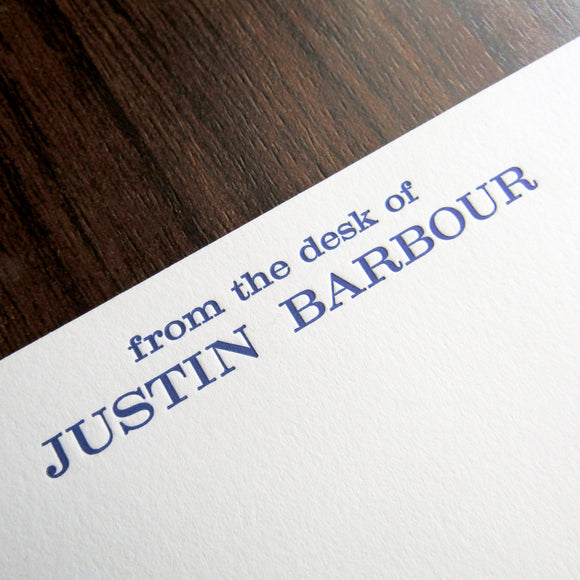 Professional letterpressed personal stationery,
