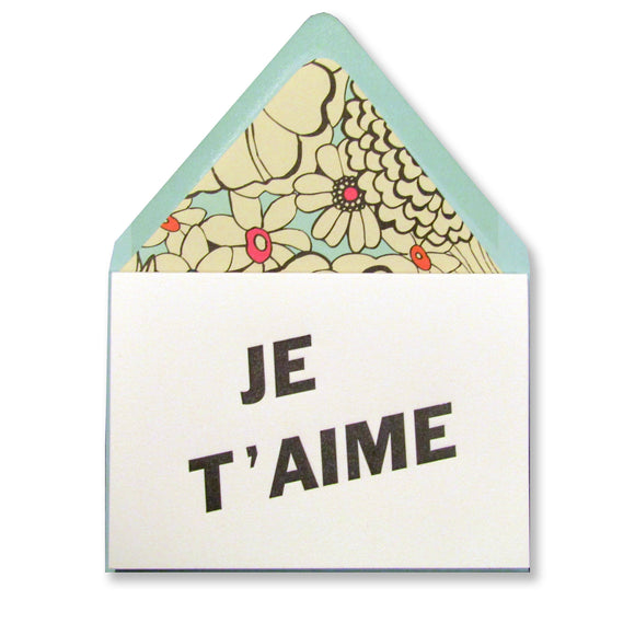 Je T'aime Valentine Card