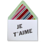 Je T'aime Note Cards