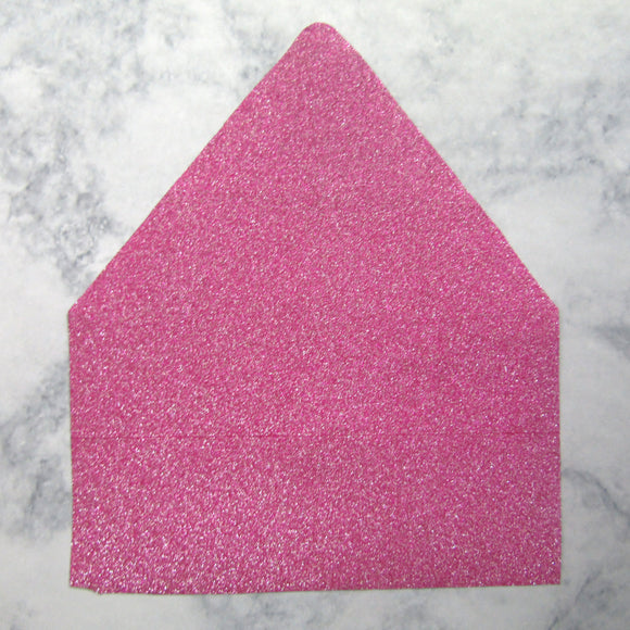 Pink Faux Glitter Envelopes Liners