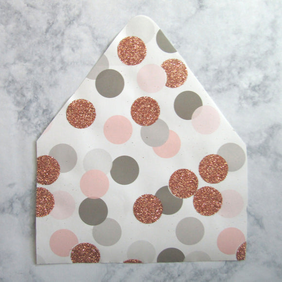 Glitter Dots Envelopes Liners