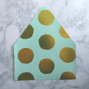 Gold Dots Envelopes Liners