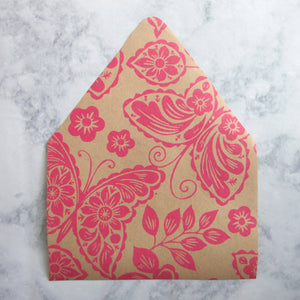 Pink Butterflies Envelopes Liners