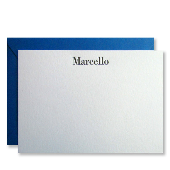 Marcello Personalized Stationery