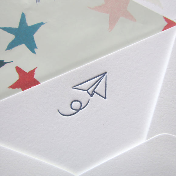 Paper Airplane Stationery (S) {Custom}