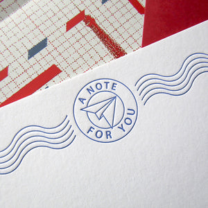 Paper Airplane Post Stationery