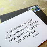 Who Will Stop Me - Rand Quotation Cards