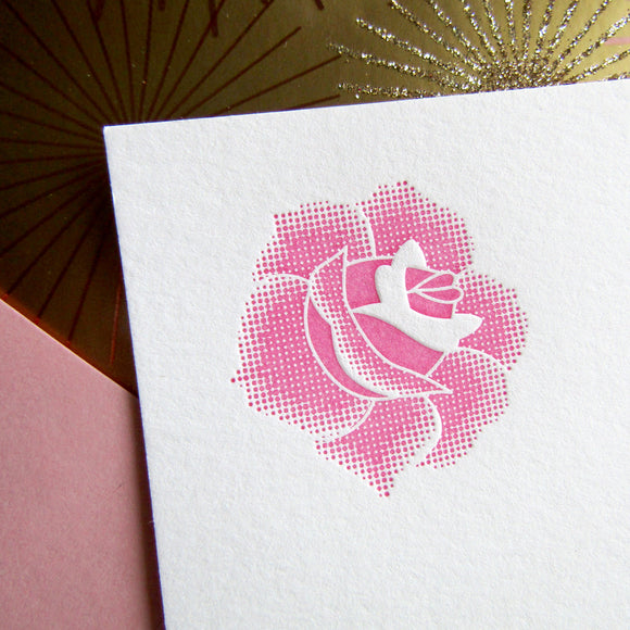 Simple Rose Stationery (L) {Last One!}