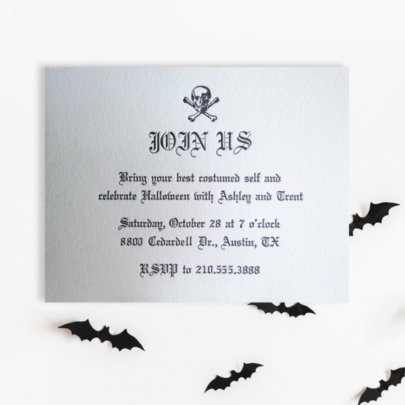 Halloween Skull Invitations