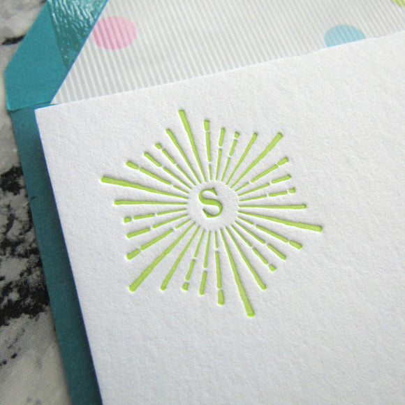 Sunburst Initial Stationery (L)