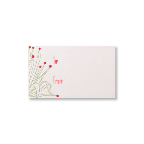 Letterpress holiday gift tags with decorated agave, designed and printed by inviting in Austin Texas INV1087