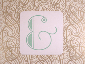 Mint Ampersand Coasters