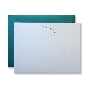 Letterpress Aries zodiac constellation stationery (flat card) in black in by inviting in austin, texas.