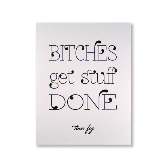 Tina Fey Quote Note Cards {Custom}